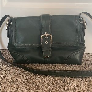 Gently Used Coach Leather Crossbody Satchel Bag